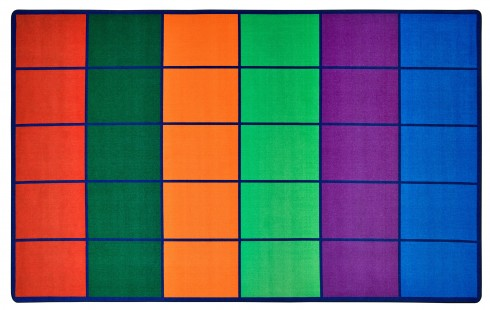 Colorful Rows Seating Rug Carpets For Kids