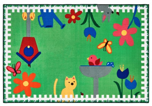 Garden Time Rug Carpets For Kids