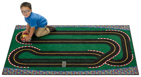 Beautiful Super Speedway Racetrack Rug - Carpets For Kids RD57