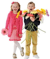 Photo of Children with flowers