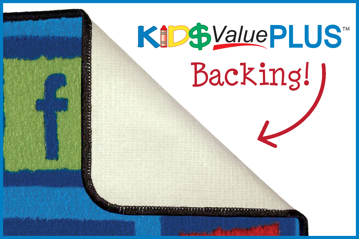 the kidply classroom rug backing wrinkling and creasing